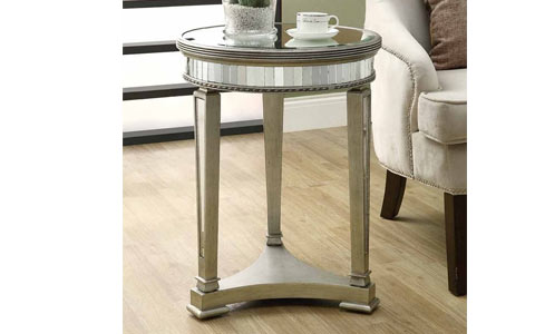 20 inch mirrored accent table