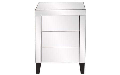 Modern Mirrored Nightstand