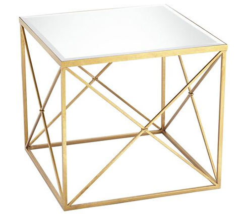 Abilene mirrored side table