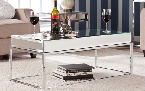 Adelie mirrored cocktail table