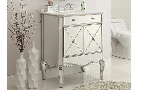 Adelisa mirrored vanity