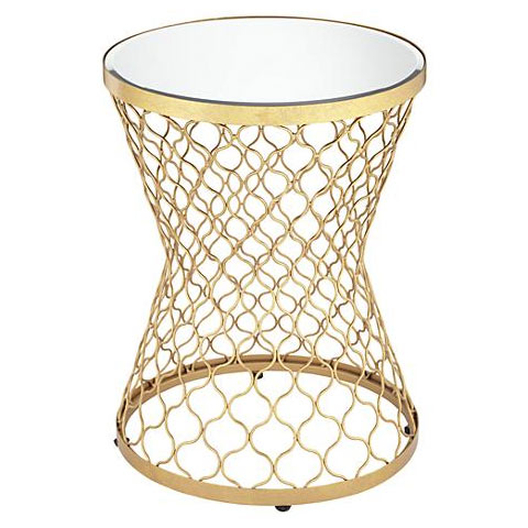 Altus antique gold side table