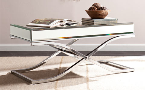 Annabelle mirrored cocktail table