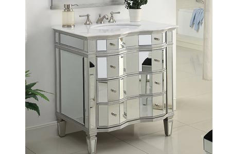 Ashley mirrored vanity