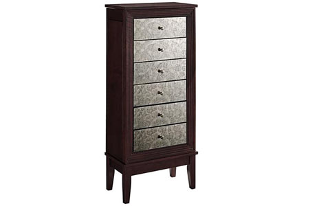 Ava mirrored jewelry armoire