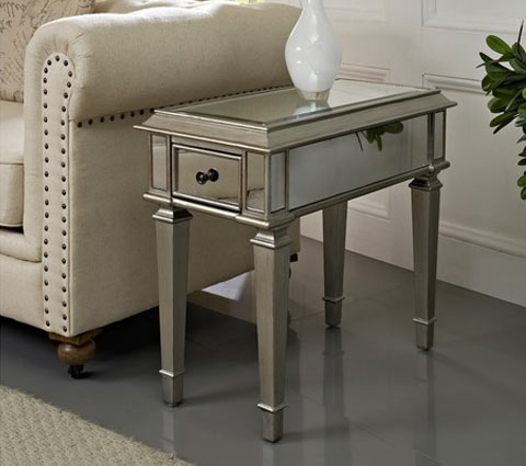 Bethany mirrored side table