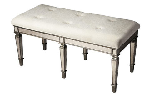Breccia Celeste mirrored bench