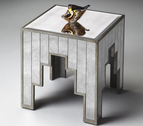 Butler Willis mirrored side table