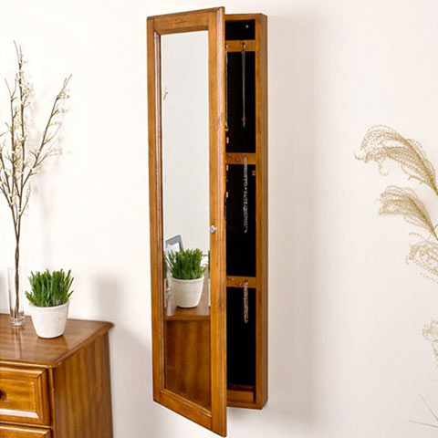 Chauncey mirrored armoire