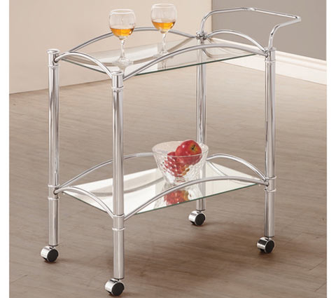 Chrome Mirrored Serving Cart