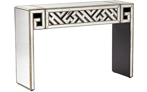 deco divide mirrored console table