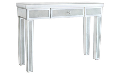 Diamond crush mirrored console