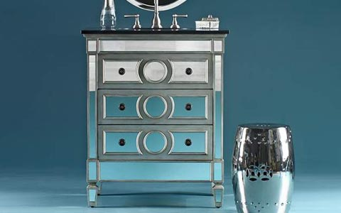 Duvall mirrored sink vanity