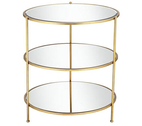 Qraci mirrored side table