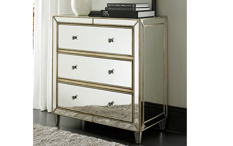 Hamptons mirrored chest