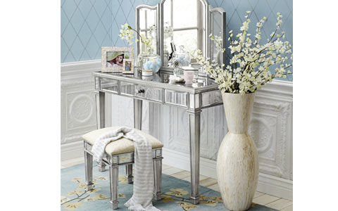 Hayworth mirrored vanity