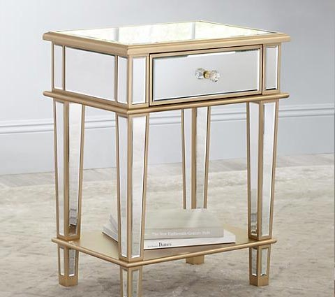 Joslyn mirrored end table