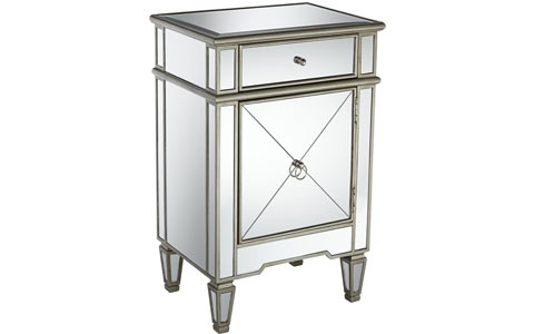 Mackenzie mirrored accent table