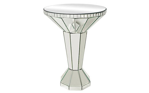 multidimensional round accent table