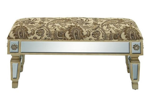 Paisley mirrored bench