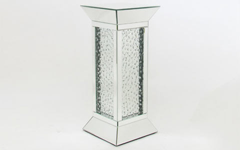 mirrored pedestal end table