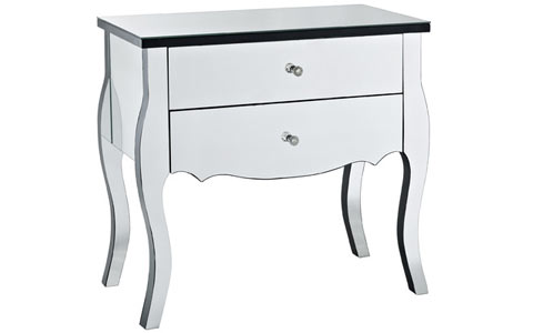 Powell mirrored console table