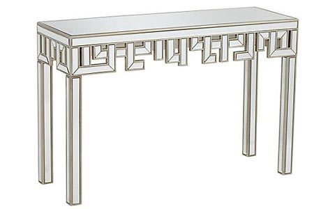 Regency mirrored console table
