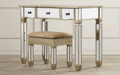 Rodeo mirrored vanity set