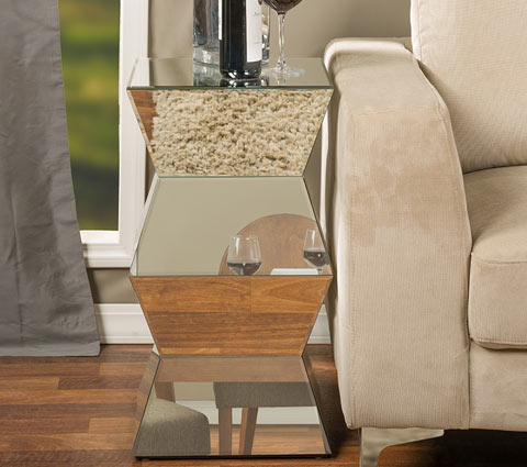 Sakina mirrored side table