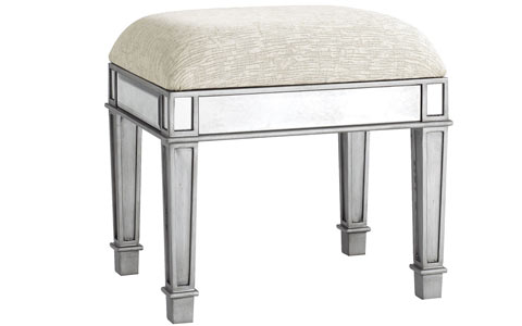Siver mirrored bench