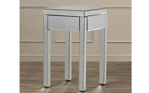 Valentina mirrored end table