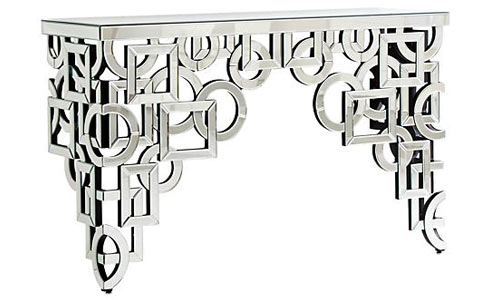 Volos mirrored console table